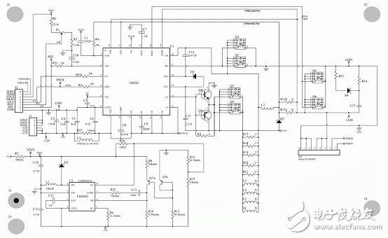 图5. lm3434 20a 评估板电路图